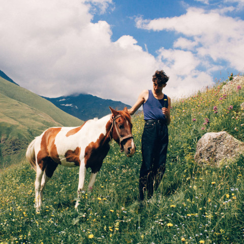 Florent and a horse in Georgia